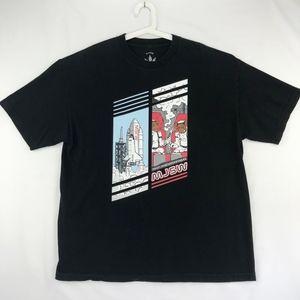 Mary Jane Smoke Wear Mens T-shirt Shuttle Monkey